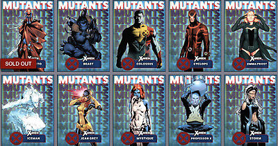 Topps Marvel Collect Card Trader Mutants Blue Complete Set of 9 w/ Magento Award