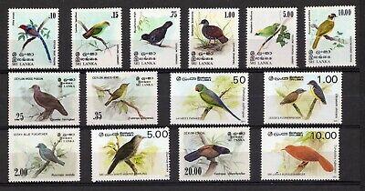 Sri Lanka birds stamps unmounted mint 1980's