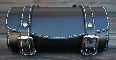 Front Leather Top Case Tool Roll Handlebar Bag Vespa Sprint Primavera 946, BLACK