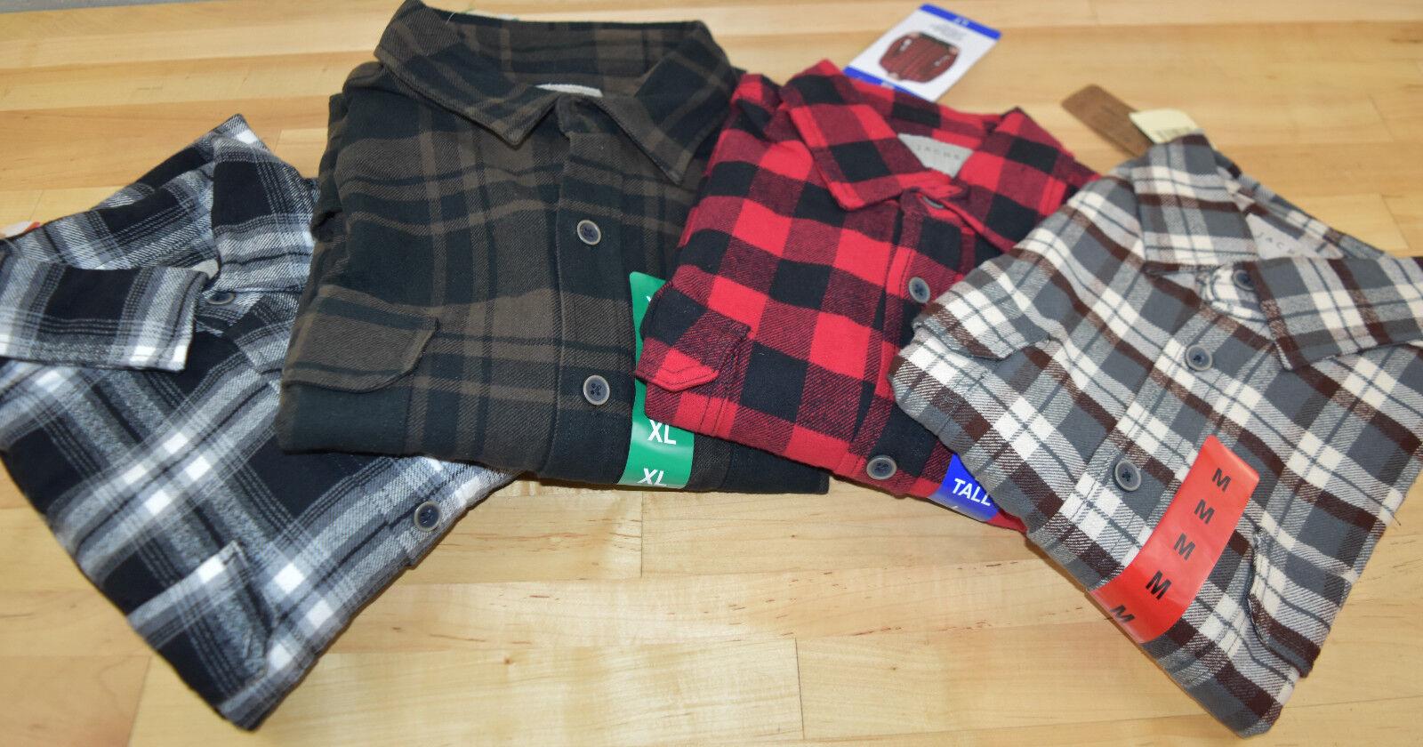 NWT Men's Jach's Button Down Flannel Shirt - SIZE & COLOR VA
