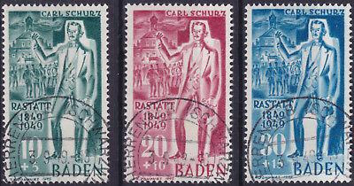 Französische Zone Baden 50/52 O 100 Jahre  Badischen Revolution Carl Schurz