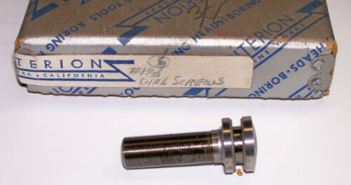 "New Criterion 1-1/2""  Boring Head Replacement Dial Screw .001 Grad.  .050 rev."