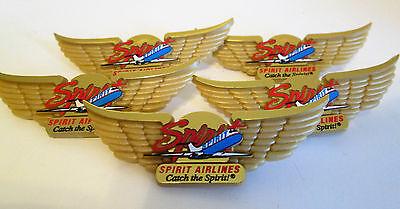 Spirit Airlines Pin Junior Jr Pilot Wings Lot   2001 Old Logo Lot Of 5
