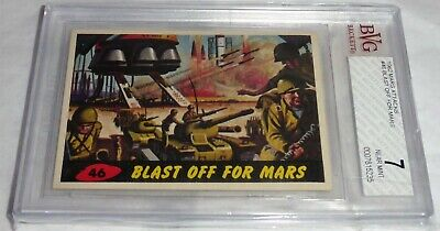 1962 Mars Attacks Blast off for Mars Card #46 BVG 7 Like PSA BGS Alien Horror