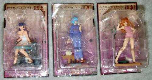 NEW Evangelion ONSEN-TIME Collection Figure Complete Set: REI, ASUKA, MISATO
