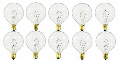 60-watt G16.5 Decorative Globe E12 Candelabra Base Light Bulbs, Crystal Clear... Clear Decorative Globe Bulbs