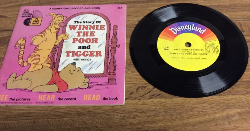 THE STORY OF WINNIE THE POOH AND TIGGER WITH SONGS BOOK AND RECORD 1968