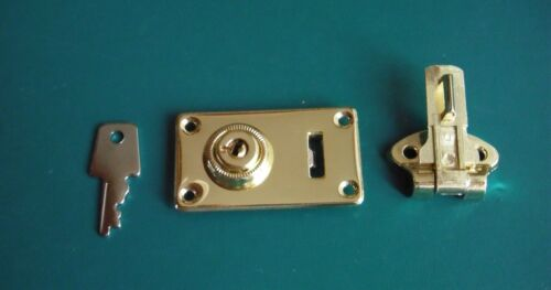 NEW !! Cheney Case Latch Replacement ( Brass ) w/ rivets