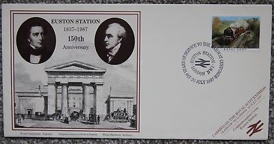 Euston Station (150 Anniversary Euston Station London Royal Scot Postal Commemorative Cover 1987)