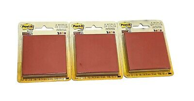 Lot Of 3 Packs Of 3 Pads Post-it Super Sticky Notes 3 X 3 Marrakesh