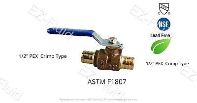5pcs Heavy Duty 12 Pex Brass Full Port Water Stop Shut Off Ball Valve Lf Cupc