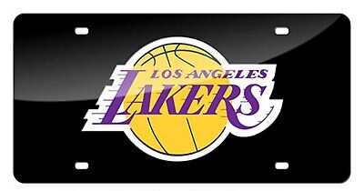 Los Angeles Lakers Schwarz Premium Laser Cut Acryl Kennzeichen Basketball Los Angeles Lakers Laser