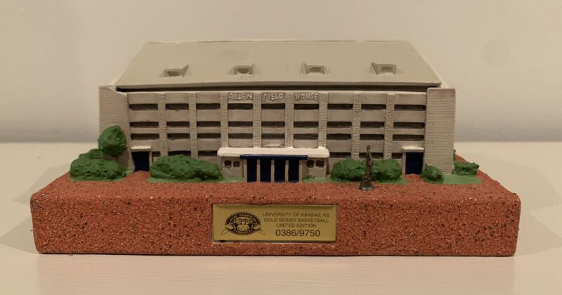 KU Kansas University Jayhawk Allen Fieldhouse Paperweight Basketball Collectible