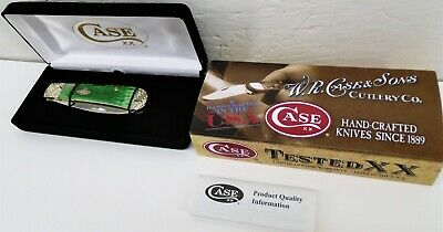 NEW Case XX Tribal Lock Emerald Green Bone Tony Bose Worked Bolsters Knife USA