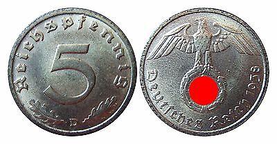 J363   5 Pfennig  1938 D in STG-  100062