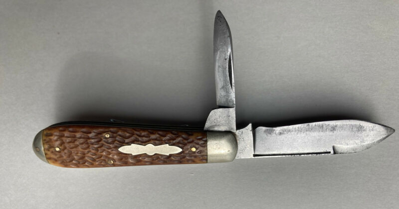 Vintage Shapleigh Hardware Co 2 Blade Folding Pocket Knife Diamond