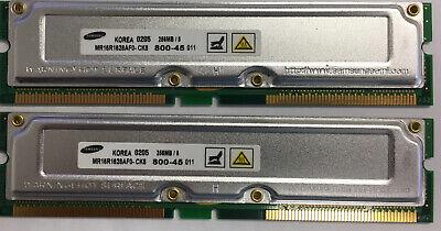 512MB 2x 256MB Rambus RDRAM 800-45 PC800 Dell HP IBM Sony Memory RAM Dell 512 Mb Memory