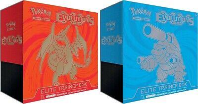 Pokemon XY EVOLUTIONS Elite Trainer 2BOX SET, Factory Sealed CHARIZARD BLASTOISE