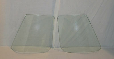 1963 CORVETTE COUPE BACK GLASS PAIR CLEAR DATED TO MATCH YOUR CAR