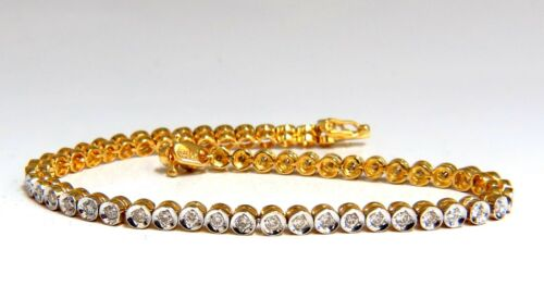 1.20ct Natural Diamonds Circular Link Bracelet 14kt.