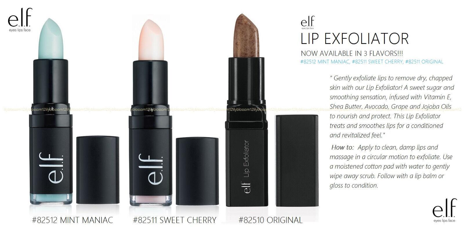 Elf Studio Lip Exfoliator Infused W Jojoba Oil Shea Butter Vit E Pick  Flavor
