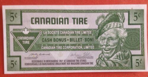 Canadian Tire Coupon 5c CTC -S28 Mis Match Number UNC 5c 0265789104-0365789104