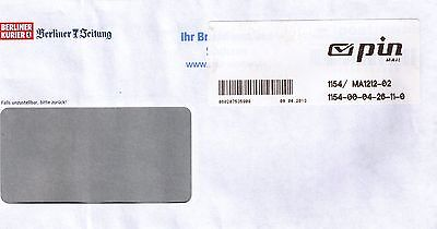 Privatpost pin mail mit Label Pin Mail, Berlin 2013, Berliner Zeitung