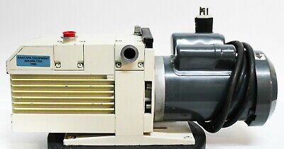 Leybold Trivac D25bcs Oil Vacuum Pump W Ge Motors Skcr48wn0313at 1.5hp 5686