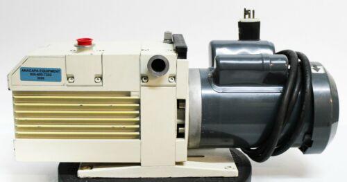 Leybold Trivac D25BCS Oil Vacuum Pump w/ GE Motors SKCR48WN0313AT 1.5hp (5686)