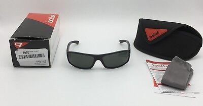 Bolle WEAVER Sunglasses, Shiny Black, Polarized TNS Gray OLEO AF Lenses 11934