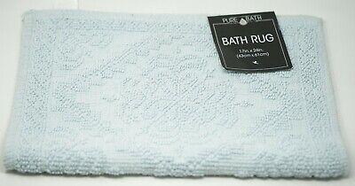 "Idea Nuova Pure Bath Cotton 17"" x 24"" Diamond Medallion Jacquard Bath Rug - Blue"