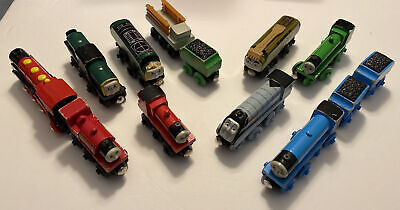 Thomas the Train Lot of 13 Wooden Engines and Cars And Cargo Used Condition