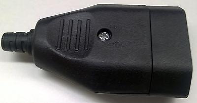EUROKUPPLUNG schwarz EURO-STECKER 2-polig  KNICKSCHUTZTÜLLE ALLES z.SCHRAUBEN  online kaufen