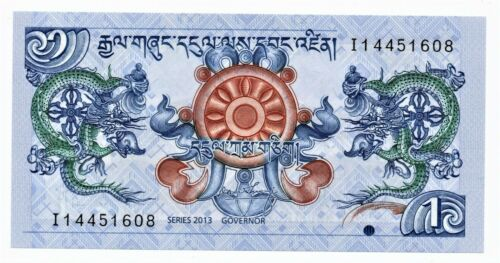 Bhutan 1 Ngultrum Banknote 2013 as pictured