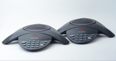 2x Lot Polycom Soundstation 2 2201-15100-601 Non Expandable Conference Telephone