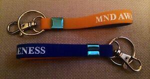 MND AWARENESS WRISTBAND KEYRING MOTOR NEURONE DISEASE NEW X 1
