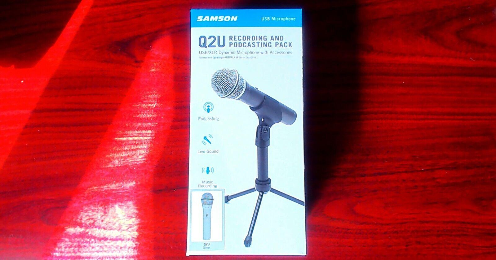 New PODCAST Recording Pack - Samson Q2U Handheld Dynamic USB
