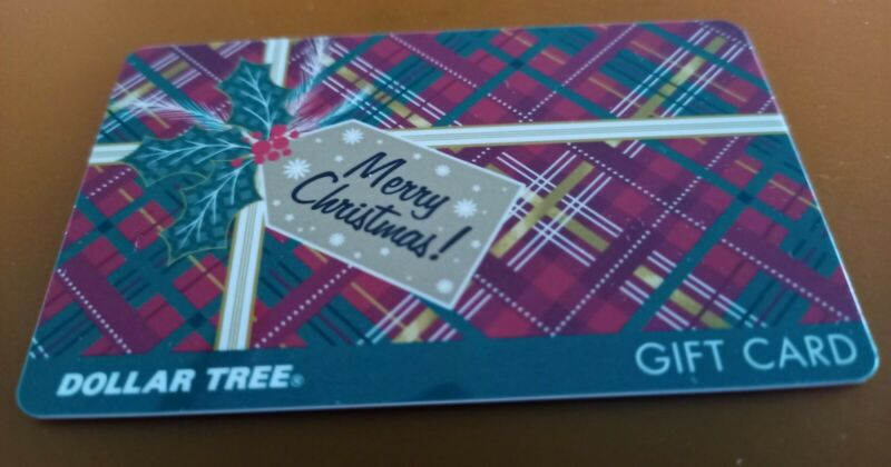 DOLLAR TREE Merry Christmas Gift Card, 2021, Collectible Mint, PVC