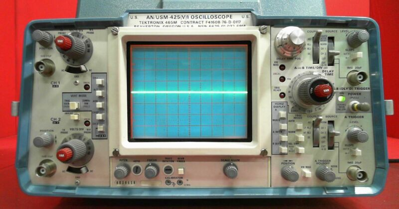 Tektronix 465M B038616 Oscilloscope AN/USM-425V 100 MHZ 2 Channel