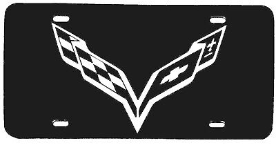 Corvette Racing C7 FLAG ON A Plastic License Plate  12