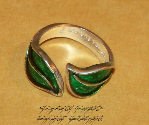 LOTR Lord of the Rings The Enameled Ring Sterling Silver size 7