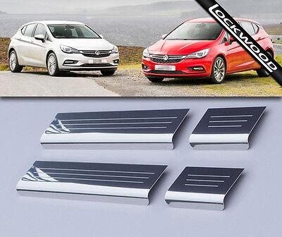 Vauxhall Astra Mk7 'K' 4 Door Stainless Steel Sill Protectors / Kick Plates