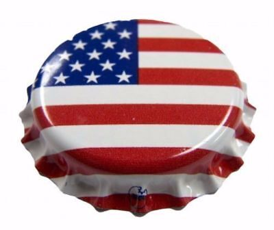 144 count Beer Bottle Crown Caps - Oxygen Absorbing for Homebrew (American Flag)