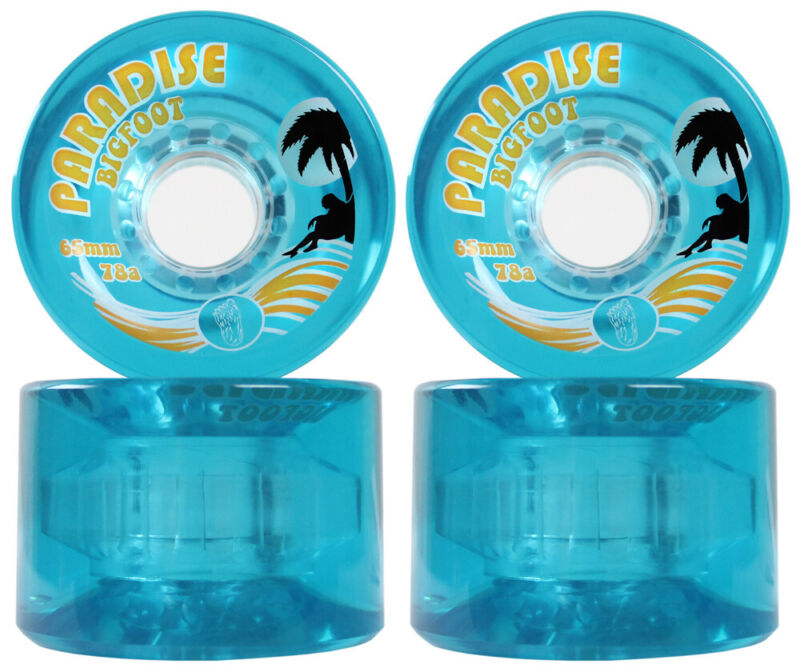 BIGFOOT FREERIDE LONGBOARD WHEELS 65MM 78A ISLANDERS BLUE - SHR Cruiser