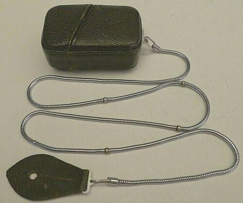Minox Wetzlar Light Meter Leather Case & Serpentine Imperial Measure Chain RARE