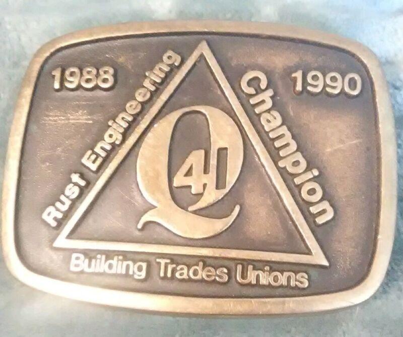 Rust Engineering Co Vtg RARE Anacortes Brass Belt Buckle