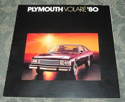 1980 SALES BROCHURE - PLYMOUTH VOLARE