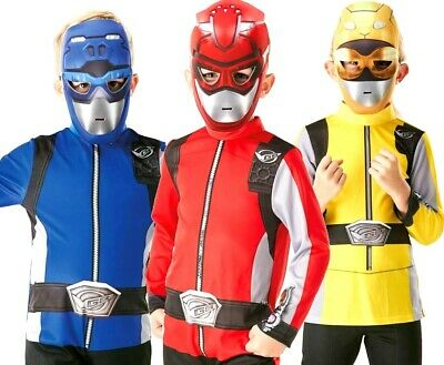 Boys Beast Costume (Beast Morphers Kids POWER RANGERS Fancy Dress Superhero Costume Boys Girls)