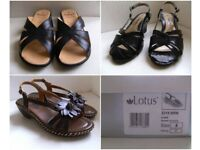Ladies Lotus Mules / Sandals and Comfort Plus Sandals size 4 EU37