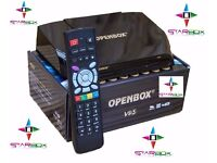 NEW☆DUAL SYSTEM☆V9 S OPENBOX HD IPTV+SAT RECEIVER BOX☆6 OR 12 MTHS☆WORLD CHANNELS